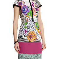 Short Sleeves Printed Sheath Dress