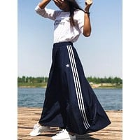 Adidas Women Casual Three Stripe Maxi Skirt