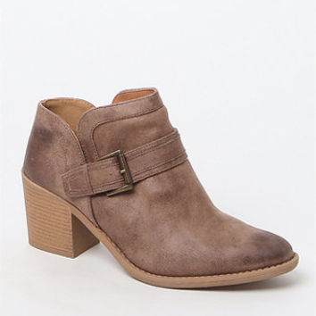 Qupid Tobin Buckled Booties at PacSun.com