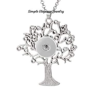 Large Tree of Life Snap Necklace-20mm Snap