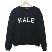 KALE Print Sweater Sweatshirt for Women Gift 163