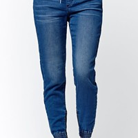 Bullhead Denim Co. Rachel Wash Jogger Jeans - Womens Pants - Blue