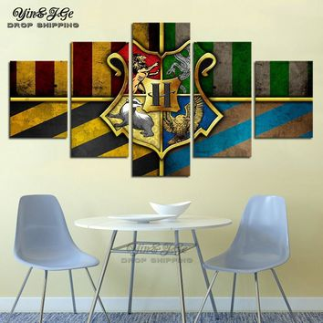 Modern Wall Art Abstract Modular Picture 5 Pieces Harry Potter Movie Posters Cuadros Decor Living Room HD Prints Canvas Painting