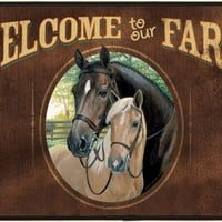 Welcome to Our Farm Porch Doormat