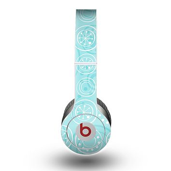 The Light Blue & White Swirls V3 Skin for the Beats by Dre Original Solo-Solo HD Headphones