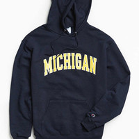 Champion University Of Michigan Eco Fleece Hoodie Sweatshirt | Urban Outfitters