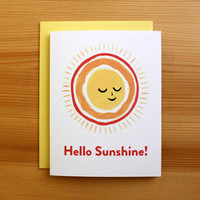 Hello Sunshine Any Occasion Greeting Card