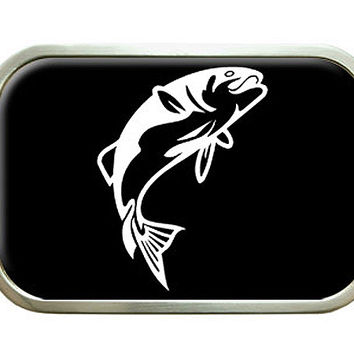 Fish Fishing Jumping Bass Belt Buckle