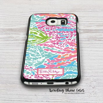 Lilly Pulitzer-Let's Cha Cha Samsung Galaxy S6 Case Cover for S6 Edge S5 S4 Case