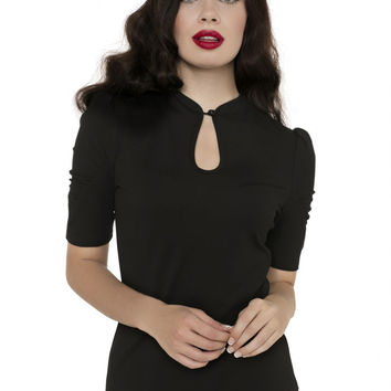 Voodoo Vixen 1940's Inspired Basic Black Top