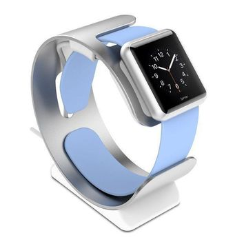 Spinido Stand For Apple Watch Silver Apple Watch Stand Supports Nightstand Mode With Cable Management For Apple Watch Charger