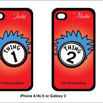 Thing 1 Thing 2 Phone Cases by fcscreations on Etsy
