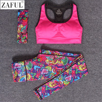 Colorful Women's 2 Piece Workout Wear plus matching head band