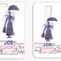 Mary Popping Quote Watercolor Phone Case, Disney iPhone Case