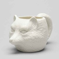 Plum & Bow Fox Face Mug- White One