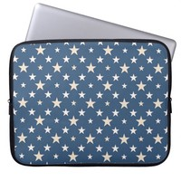American themed stars laptop computer sleeve