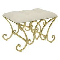 Three Hands Tufted Ottoman - Gold