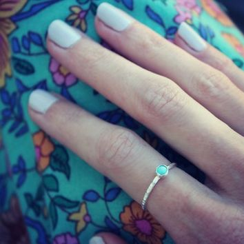 Sterling silver ring, turquoise ring, turquoise, silver rings, stacking rings, midi ring, knuckle ring, sterling silver rings