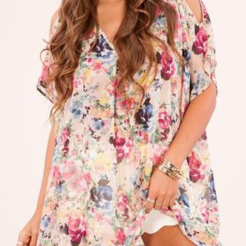 Presley Open Shoulder Tunic