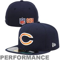 New Era Chicago Bears 2013 On-Field Player Sideline Performance 59FIFTY Fitted Hat - Navy Blue