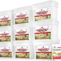 My Food Storage(1080 Servings - 6 Entree, 3 Breakfast Buckets)Sealed in Mylar Pouches - 25 Year Shelf Life - Just Add Water
