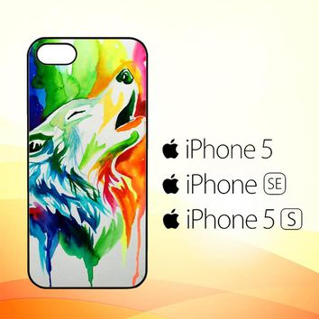 WALLPAPER Rainbow Watercolor Drop Y0502  iPhone 5|5S|SE Case