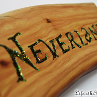 Neverland Sign, Peter Pan and Once Upon a Time Inspired, Nursery décor, Desk Sign