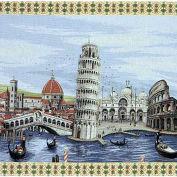Monuments Italy Tapestry Wall Art Hanging
