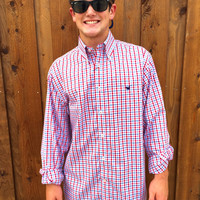 Southern Marsh The Evans Gingham- Navy and Red