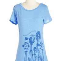 ModCloth Mid-length Short Sleeves Renewable Zen-ergy Tee
