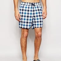ASOS Swim Shorts With Gingham Check