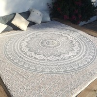 Large Indian Mandala Tapestry Wall Hanging Throw Towel Beach Yoga Mat Decor Boho Table Cloth Bedding Outlet Home Decor 210x150cm