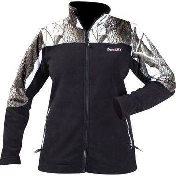 Rocky® Ladies' Fleece Jacket with Camo Accents, Realtree Hardwoods Snow