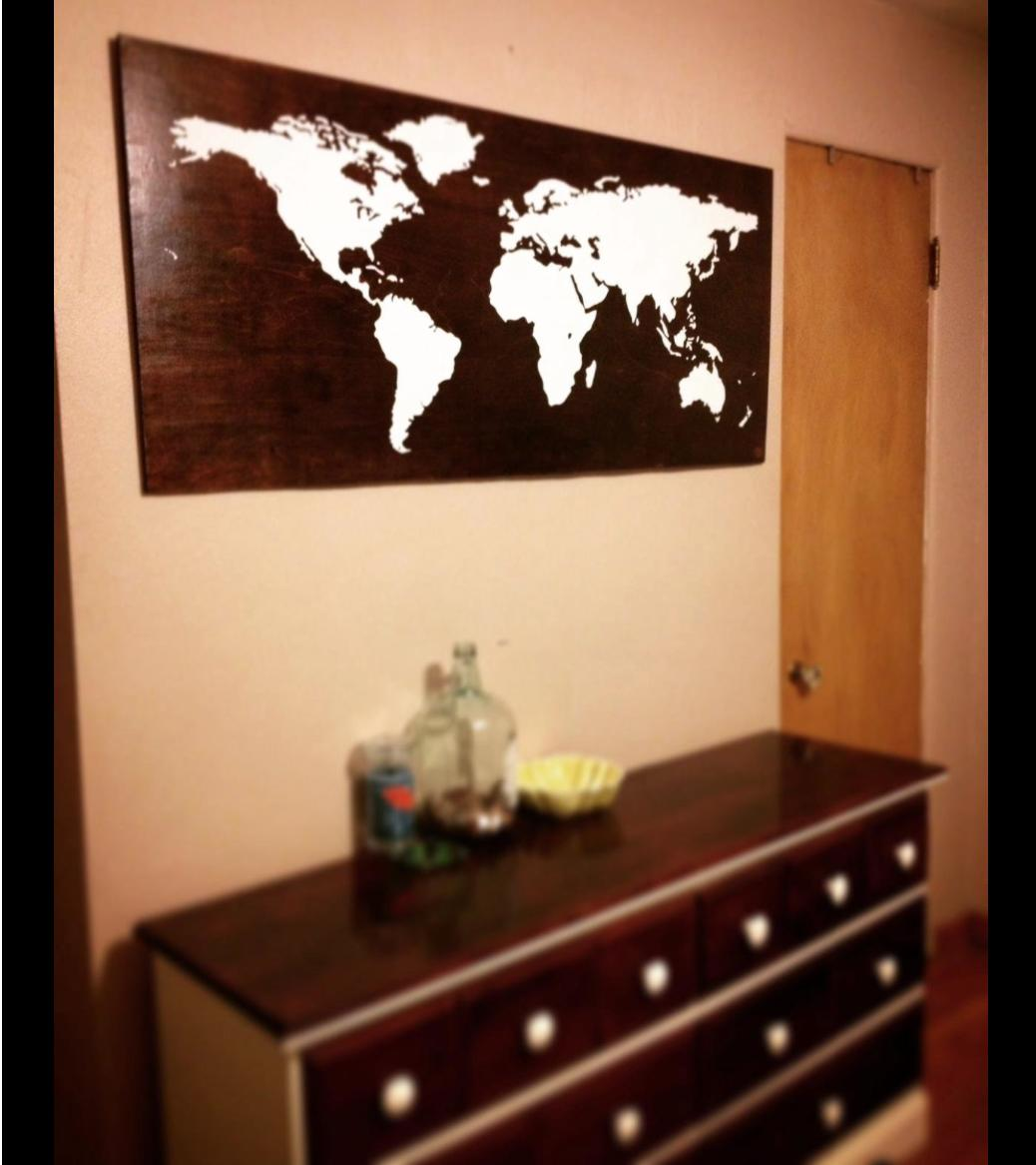 Vinyl Wall Art Decal Sticker World Map from StickerBrand