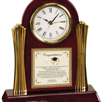 Personalized Medical School Graduation Gift Clock
