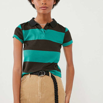 BDG Joanie Striped Polo Tee | Urban Outfitters