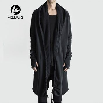 a19015bc84 HZIJUE Brand Kanye West Mantle Streetwear Hoodie Long Male Black