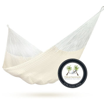 Natural Hammock - 100% Hand Woven Pelican Hammock - Available in Multiple Sizes