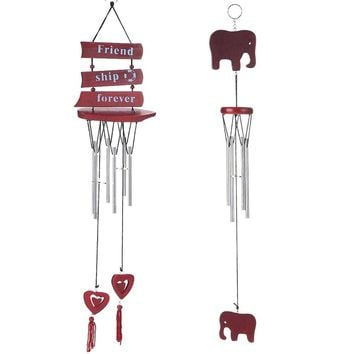 48cm 6 Tubes Wind Chimes Bells Carillon Copper Windchime Wall Hanging Decoration Home Outdoor Living Yard Chapel Bells