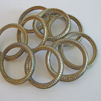 French gilt curtain rings