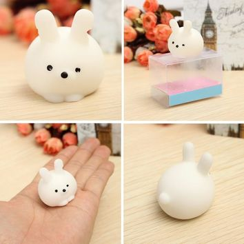 Bunny Ball Squishy Squeeze Cute Healing Toy Random Color Kawaii Collection Stress Reliever Gift Decor