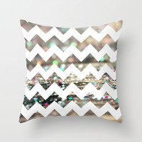 Afterparty Chevron Throw Pillow by Beth - Paper Angels Photography | Society6
