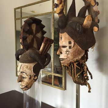 Nigerian Ashanti Tribal Masks