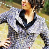 XOXO Gossip Girl Tweed Jacket | Hope's