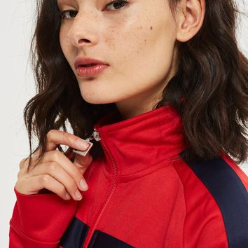 Funnel Neck Tracksuit Jacket by FILA | Topshop
