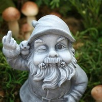 Garden Gnome Flipping The Bird by PhenomeGNOME