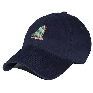 Rainbow Fleet Needlepoint Hat in Navy by Smathers & Branson