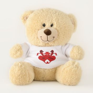 Guardsman Red Hearts Swans Teddy Bear