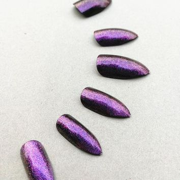 Galaxy Chrome Cat Claw Manicure Nail Kit - Wednesday Addams