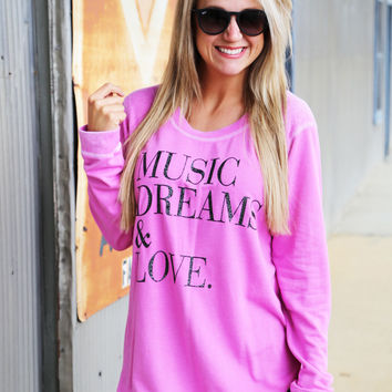 Music, Dreams, Love Knit